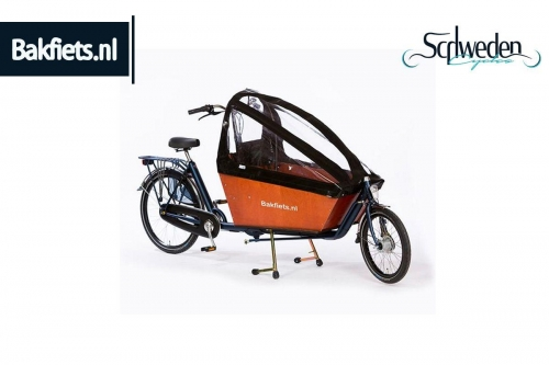 """Bakfiets - Aufrollbares Verdeck <br><h6><span style=""""color: #E74E0F;"""">Bestellware</span></h6>"""